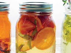 Keep the party crowd chill with these self-serve thirst quenchers. Steep the tea in jars overnight in the fridge; then pack the jars into...