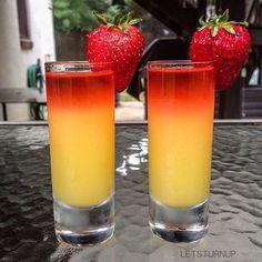 Pop My Cherry Shot! Triple Sec oz. Party Drinks, Fun Drinks, Yummy Drinks, Alcoholic Drinks, Cocktails, Cherry Vodka, Strawberry Vodka, Smoothie Drinks, Smoothies