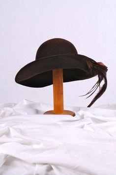 Vintage Frank Olive Brown Wool HAT by vintageestatements on Etsy 0d8d2f57440b