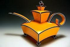 ceramic tea pot in orange Pottery Teapots, Teapots And Cups, Ceramic Teapots, Ceramic Art, Teapots Unique, Tea Art, Tea Service, Chocolate Pots, Museum Of Fine Arts