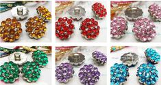 5 Rhinestone Buttons w/shank 18mm 3/4 Sparkly by inthepinkroom