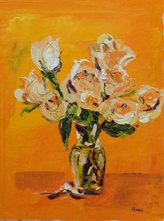 Pleasant View Schoolhouse: I've Been Painting Florals, and a Piece of Fruit