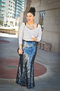 Mmmmm love that skirt @Eboni Ifé (The Fashionista Next Door)