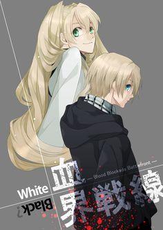 Kekkai Sensen   Blood Blockade Battlefront   William & Mary Macbeth // Black & White   Anime   Fanart   SailorMeowMeow