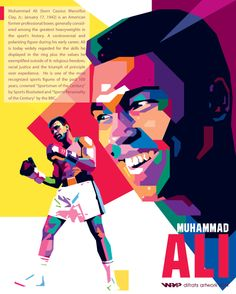 Muhammad Ali wpap by difrats #art #vector #tracing #ali #boxing #wpap #popart
