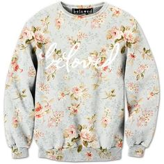"""belovedwear® presents the #BelovedFloral Sweatshirt by Beloved Shirts. This """"all over"""" print crewneck sweatshirt is made using a special sublimation technique t"""