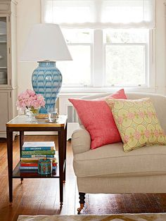 An easy way to revamp your space for the new season is to incorporate a few bright home accents. Add colorful throw pillows to your favorite spot for a fresh look.