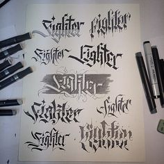 Awesome collection of calligraphy style treatments by @danielletterman   #typegang if you would like to be featured   typegang.com