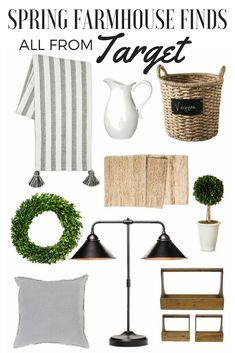 Spring farmhouse finds from Target.