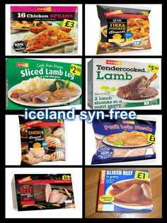 Iceland - all sw free slimming world shopping list, slimming world dinners, iceland slimming