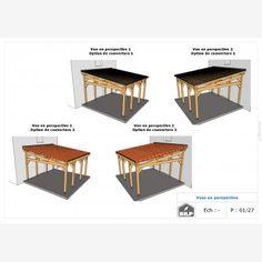 Le plan de votre CARPORT / PRÉAUX / AUVENT sur mesure Plan Carport, Simulation 3d, Plans, Home Decor, Car Shed, Wood Construction, Homemade Home Decor, Interior Design, Home Interiors