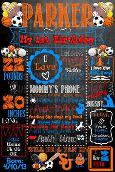 Custom Sport themed birthday party poster by CustomPrintablesNY