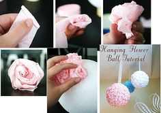 Ideias - Faça você mesmo ( Ideias para casamento ): Bola de isopor + flores
