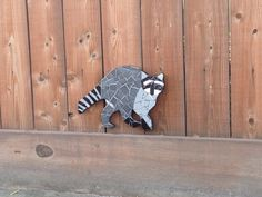 Tile mosaic raccoon https://www.etsy.com/shop/Dolphinsbycindy