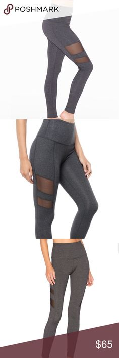 Beyond Yoga High Waisted Mesh Stripe Legging High quality legging for barre,yoga or everyday wear. High waist provides excellent coverage while mesh allow for good air flow. Beyond Yoga Pants Leggings