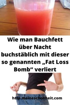 """How To Literally Get Belly Fat Overnight With This So-called """"Fat Loss . - How to literally lose belly fat overnight with this so-called """"Fat Loss Bomb"""" - Detox Diet Drinks, Detox Diet Plan, Belly Fat Loss, Lose Belly Fat, Cardio, Gewichtsverlust Motivation, Fat Burning Drinks, Body Detox, Dietas Detox"""