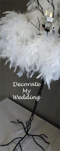 Wedding Decorations - Feather Boas make great wedding decorations.