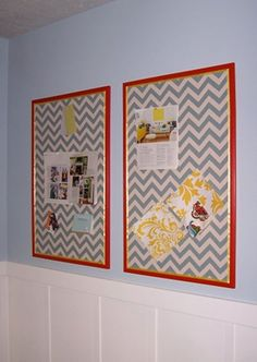 I would LOVE to make a cute, fabric corkboard for my new office!!