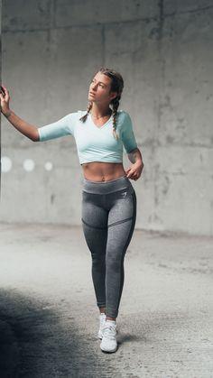 Mesh around. Gymshark Athlete, Meggan Grubb, sporting the Ballet Crop Top and Simply Mesh Leggings.