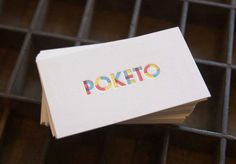 poketo business cards, by olive-route