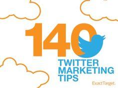 140 Marketing Tips for 2013 by ExactTarget, via Slideshare Most Popular Social Media, Types Of Social Media, Social Media Tips, Internet Marketing, Online Marketing, Social Media Marketing, Digital Marketing, Social Networks, Twitter For Business