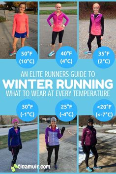health fitness - A runners guide What to wear for every winter run This is so helpful to know what the elites wear for every temperature from 50 degrees to below 20 as well as how it changes when running hard or if there is wind Cardio Training, Running Workouts, Running Tips, Trail Running, Running Training Programs, Running Schedule, Running Food, Walking Workouts, Running Challenge