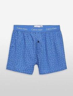 Calvin Klein Mens Woven Slim Fit Boxers Underwear
