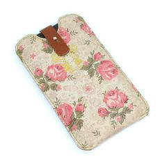 Leather iPhone 5 / new iTouch Case Roses by tovicorrie on Etsy