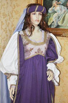 renaissance costume idea. Love the purple