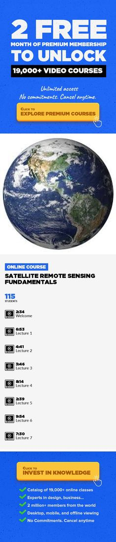 Satellite Remote Sensing Fundamentals Illustration, Information Design, Data Visualization, Digital Illustration, Graphic Design, Creative, Remote Sensing #onlinecourses #CoursesIllustration #onlinedegreefree   Learn both the theoretical knowledge and practical skills of the latest satellite remote sensing technologies with easy to follow video lectures and laboratory exercises. This course provid...