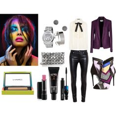 Colorful by vanessaeale on Polyvore featuring mode, Dolce&Gabbana, Mauro Grifoni, Yves Saint Laurent, Giuseppe Zanotti, Bao Bao by Issey Miyake, Michael Kors, Demitasse and MAC Cosmetics