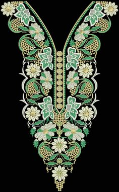 Latest Embroidery Designs For Sale, If U Want Embroidery Designs Plz Contact (Khalid Mahmood, +92-300-9406667)  www.embroiderydesignss.blogspot.com  Design# Ruksa22 Embroidery Works, Gold Embroidery, Crewel Embroidery, Embroidery Dress, Neck Designs For Suits, Dress Neck Designs, Designs For Dresses, Embroidery Designs For Sale, Machine Embroidery Designs