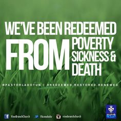 "Vine Branch Church on Twitter: ""iDeclare...  I'm the REDEEMED I'm the RESTORED I'm the RENEWED...in CHRIST Galatians 3:13"