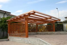 Pergola With Corrugated Metal Roof Frame Amp Colorbond