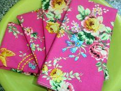 Gorgeous handmade floral napkins!