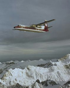 NAC F27 over Southern Alps, image Mannering and Associates Limited