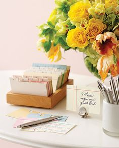 file card wedding guest book