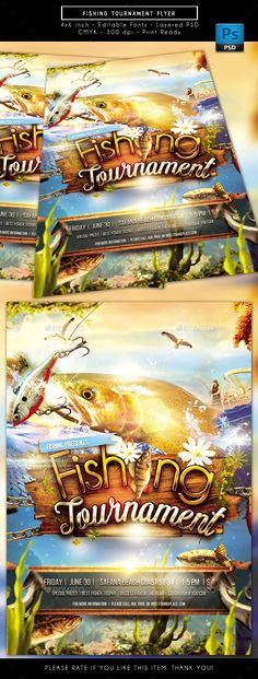 Fishing tournament flyer poster template template flyer fishing tournament flyer sports events download here httpsgraphicriver saigontimesfo