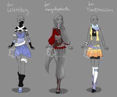 Custom Outfits #10 by Nahemii-san.deviantart.com on @DeviantArt