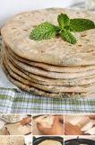 === Infredience === Těsto na chléb: 250 g hladké celozrnné mouky cca 12 ml vody špetka soli Náplň: 2 středně velké brambory 1/4 lžičky soli 1/2 lžičky římského kmínu (voní jinak než český kmín) 1 zelená čili paprička, nakrájená na drobno 2 lžíce na drobno nakrájených lístků koriandru (dá se koupit ve velkých supermarketech) 1/2 koření garam masala (kupte si kvalitní koření, nejlépe v indickém nebo arabském obchodě, tam prodávají svým krajanům skutečně dobré, poctivé koření) Při práci…