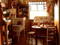 Dollhouse 'Farmhouse' kitchen detail from In Payne.