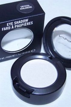 MAC Eyeshadow in Crystal Avalanche   use this for highlighting under my eyebrows & on the inside corner of my eyes to look more awake & refreshed