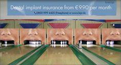 Dental Implant Insurance Ambient Ad by Jung Von Matt for Ergo Direkt Insurance