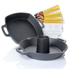 Emerilware™ Cast Iron Chicken Roaster HSN.com.