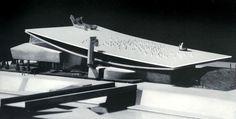 model of the Italian Pavilion, Expo 67. Leonardo Ricci and Leonardo Savioli, architects