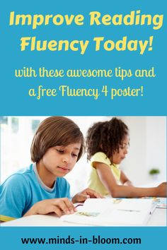 Reading out loud fluently can be a challenging skill to master, but fortunately, there are so many fun and effective ways to practice! Try some on this post and don't forget to pick up your free Fluency Four poster!