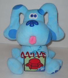 "1998 Blues Clues 11"" Plush Stuffed Handy Dandy Notebook Cards Nickelodeon Eden #Nickelodeon"