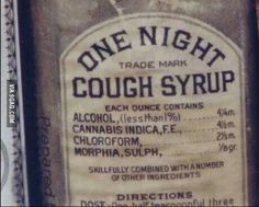 Ah, the good ol days.... I'll bet it stopped the coughing! :)