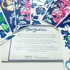 "Presenting #BlueBotanica ""ThankYou"" flatnotes. Oh! What a stylish way to say Thank You!!"