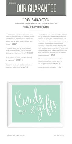 Andaz Press Wedding Party Signs, Mint Green, 8.5x11-inch, Cards and Gifts Thank You, 1-Pack